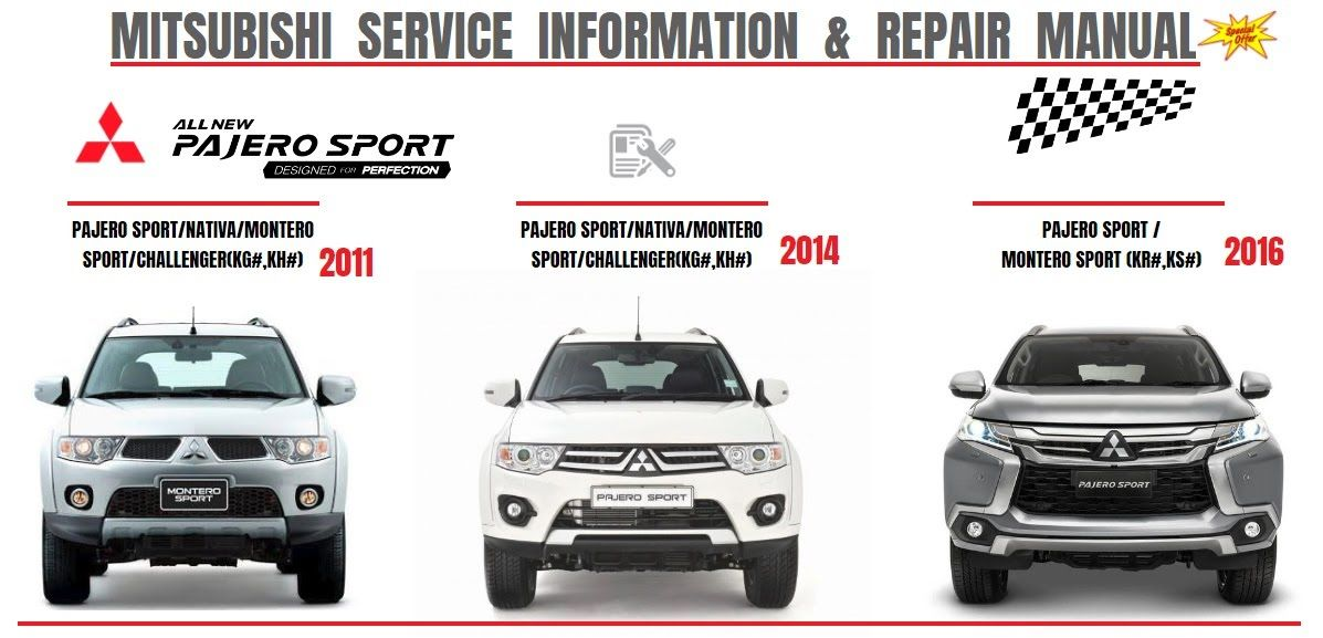 Mitsubishi Pajero Sport 2011  2014  2016 Workshop Manual