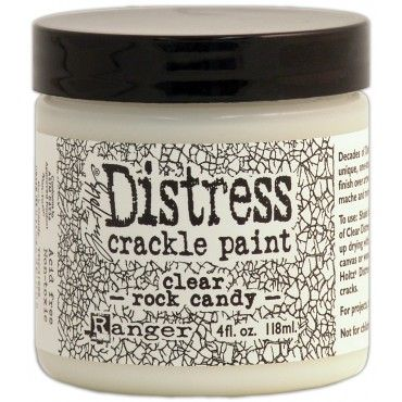 Tim Holtz Distress Rock Candy Crackle Paint. Decades of Distress in one simple step! Tim Holtz Distress Crackle Paint is a unique one-step paint that cracks as it dries and products really cool results