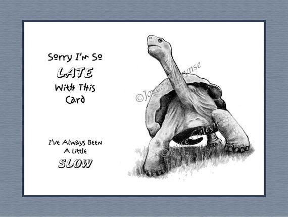 Printable funny belated birthday card turtle pencil by joyart printable funny belated birthday card turtle pencil by joyart 400 bookmarktalkfo Images