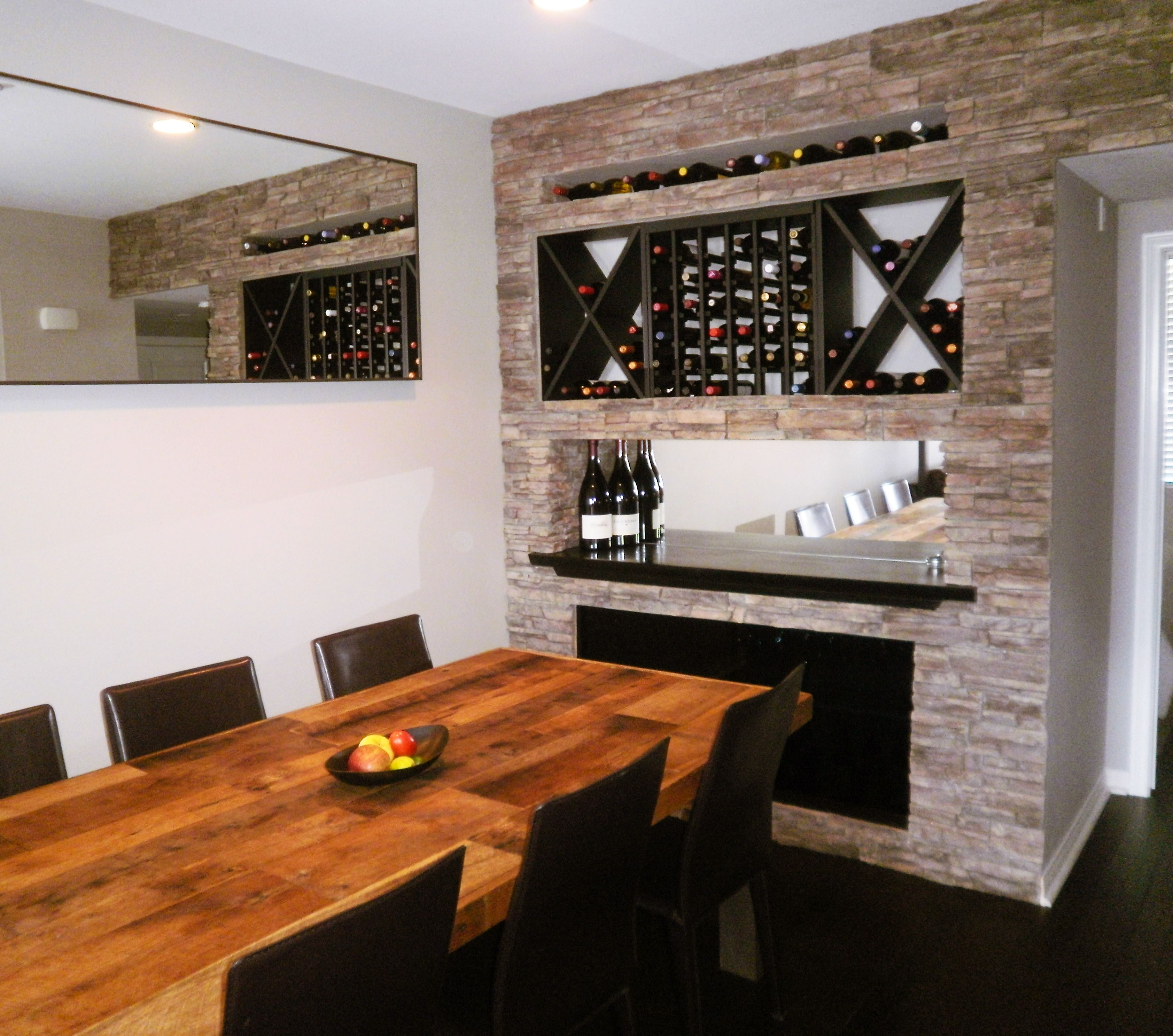 Wine Bar In The Dining Room Modern
