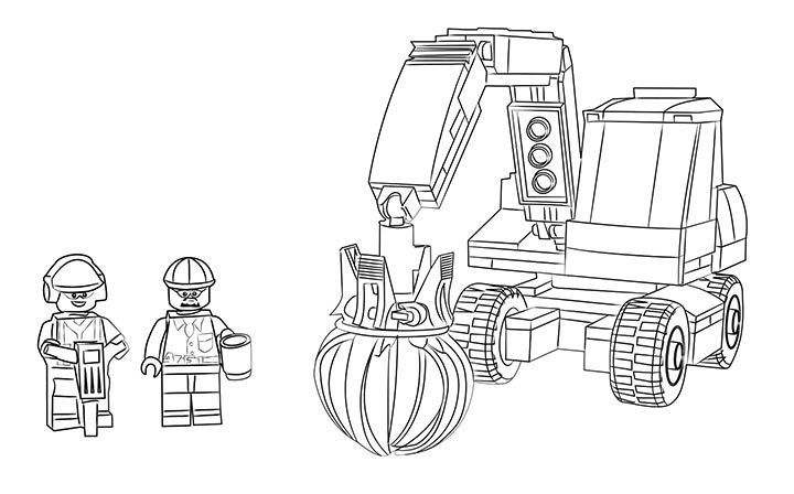 lego coloring pages coloring sheets lego city baggers trucks children - Lego City Airplane Coloring Pages