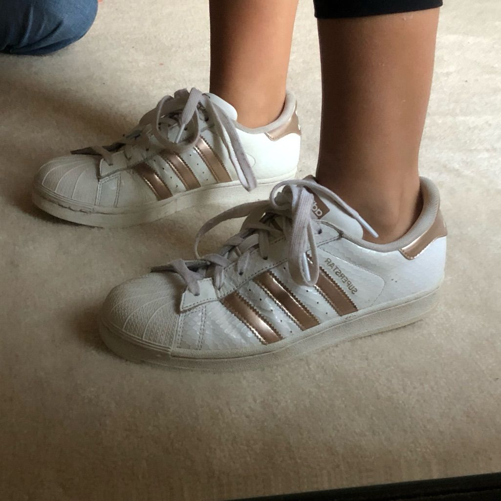 adidas Shoes | Adidas Superstar Rose Gold | Color: Gold