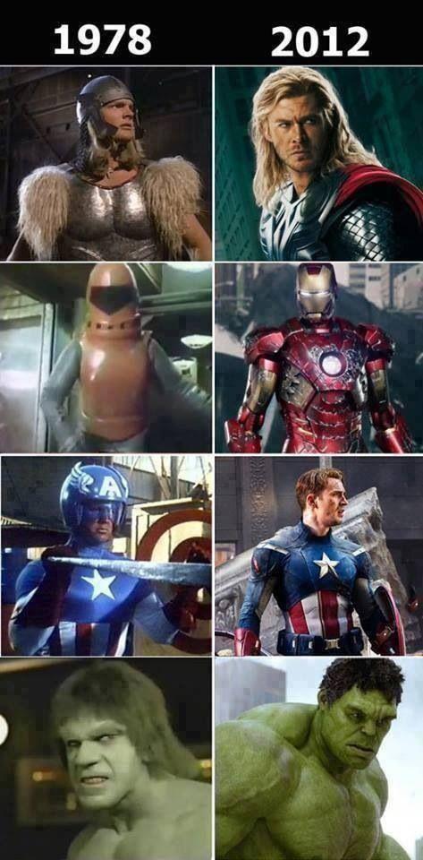 Thank goodness for technology & better costume design!!