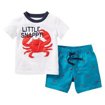 Kohls Baby Boy Clothes Entrancing Carter's Crab Tee And Shorts Set  Toddler #kohls  Style For Kids Decorating Design