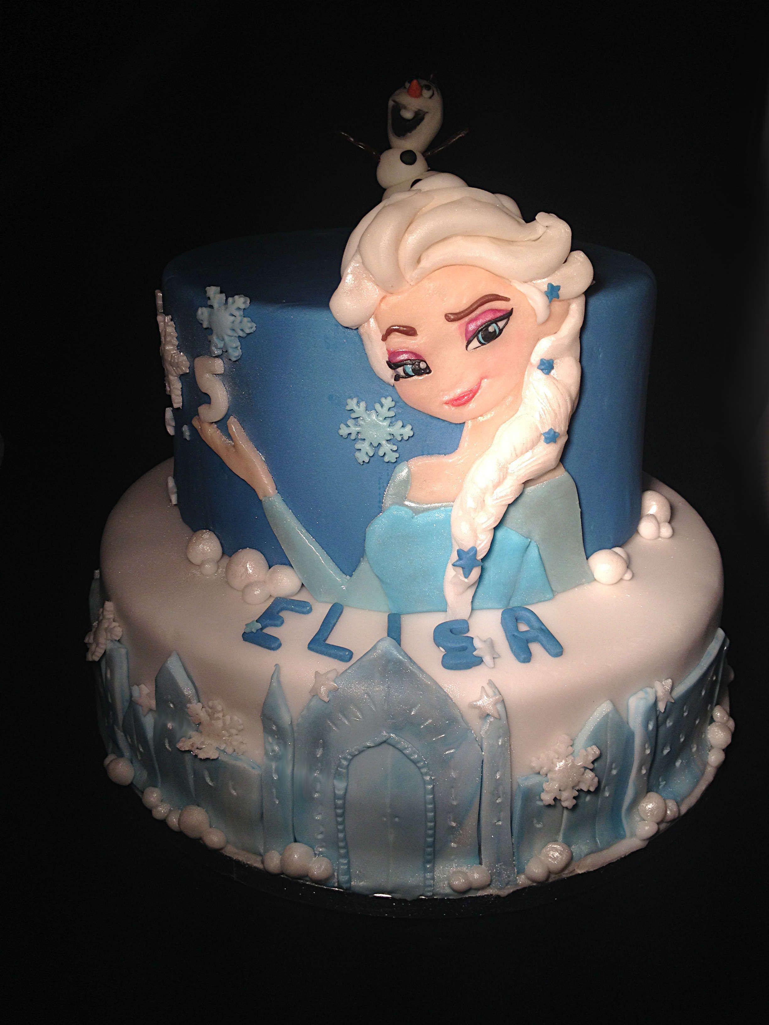 Molto Frozen e la torta di compleanno di Elisa #cake #birthday #Elsa  IB67