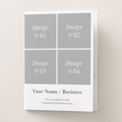 two-sided 2018 calendar template pocket folder - create your own