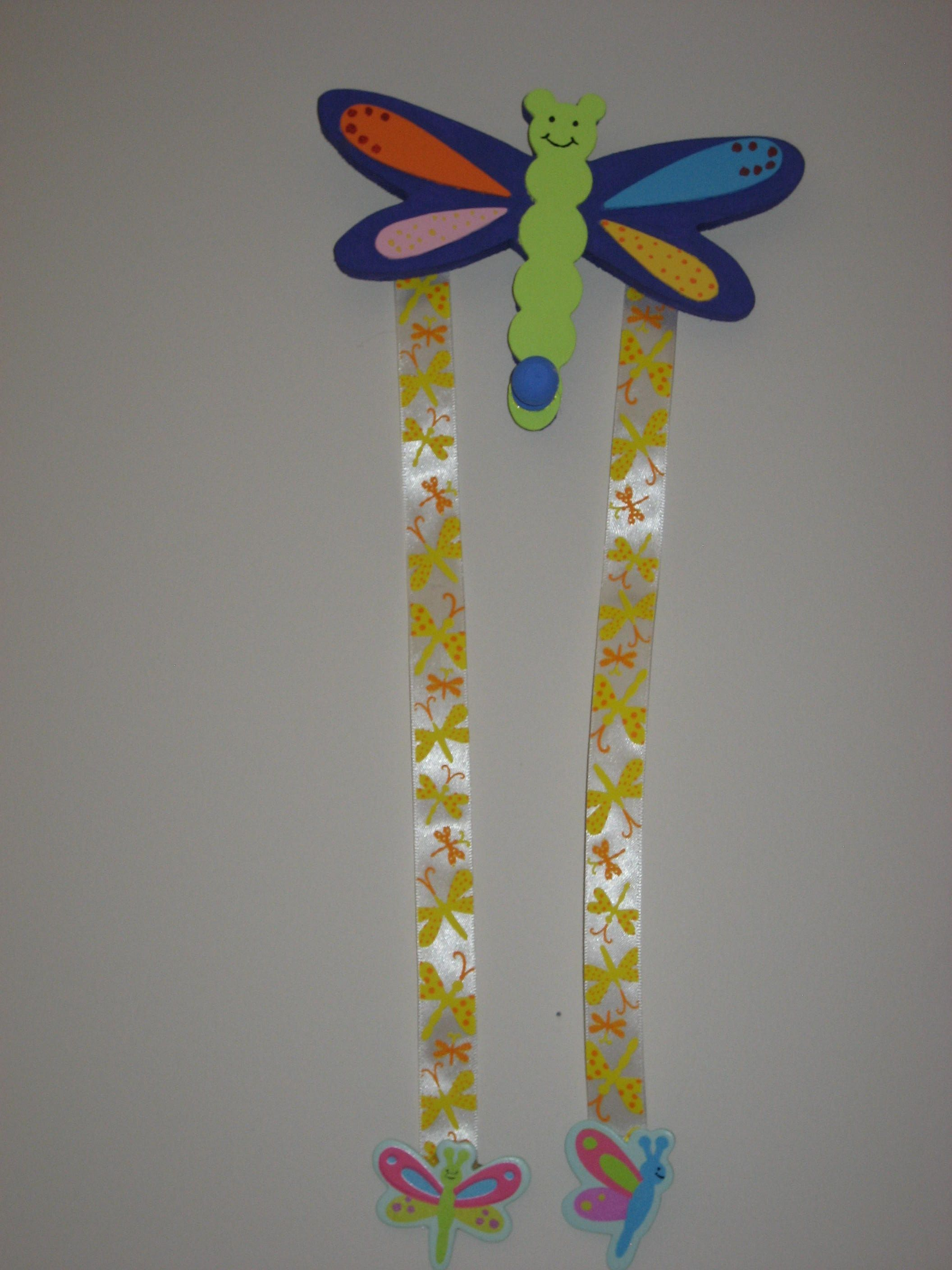 Another one I hand painted and made. A cute hair clip and elastic holder for girls! (saw this idea on facebook)