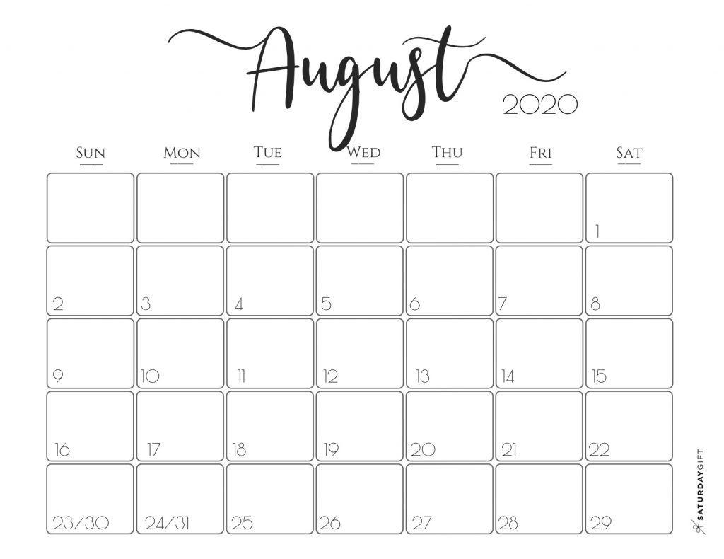 Free Printable August 2020 Calendar.Elegant 2020 Calendar November Calendar