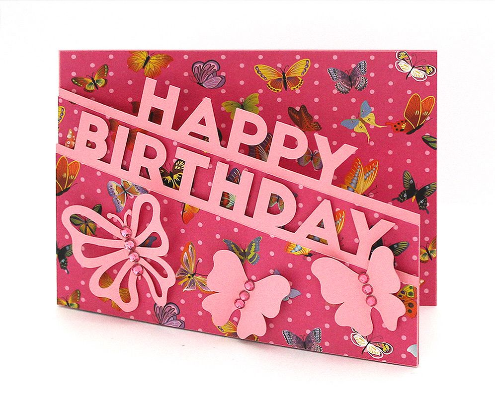 Download Sentiment-Edge-Cards | Cricut birthday cards, Happy ...