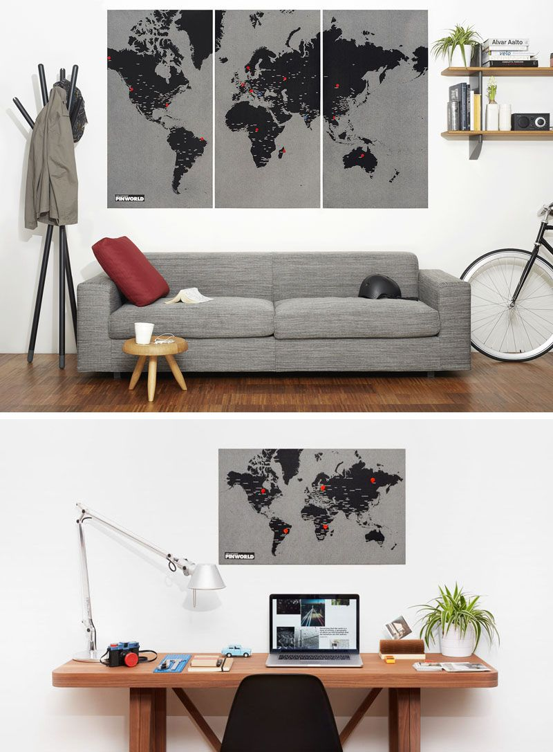 10 world map designs to decorate a plain wall stick pins walls 10 world map designs to decorate a plain wall gumiabroncs Gallery