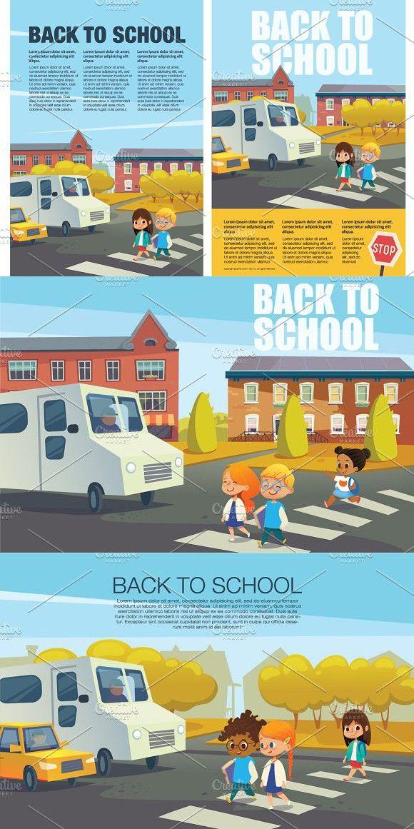 Traffic safety. Back to School. Traffic safety, School