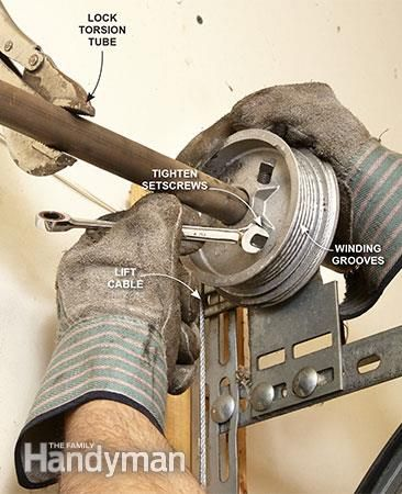 How To Repair Garage Door Springs And Cables Con Imagenes