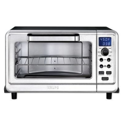 Krups Metal 6 Slice Digital Convection Toaster Oven In Black Silver Www