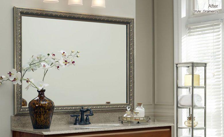 Gramercy After DIY Home Pinterest Builder grade, Mirror
