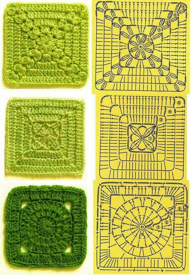 Solid Granny Square Charts Angel Baby Project Croch