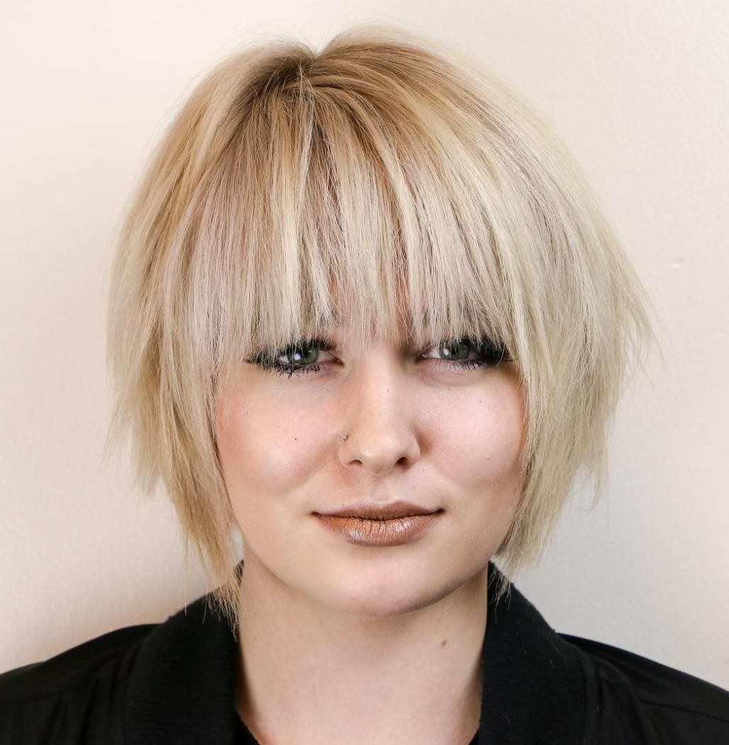 super cute looks with short hairstyles for round faces razored