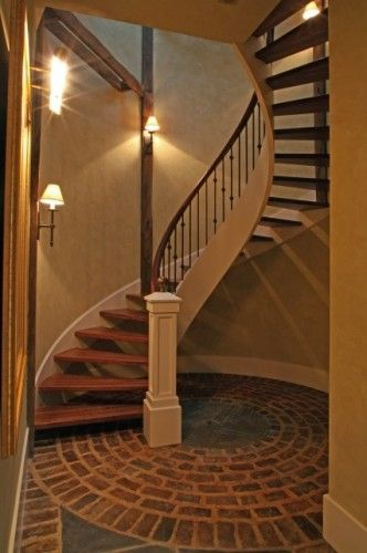 Best Circular Brick Floor An Oval At The Entryway With 640 x 480