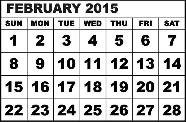 Why February Has Only 28 Days December 2013 Calendar March 2015 Calendar Calendar