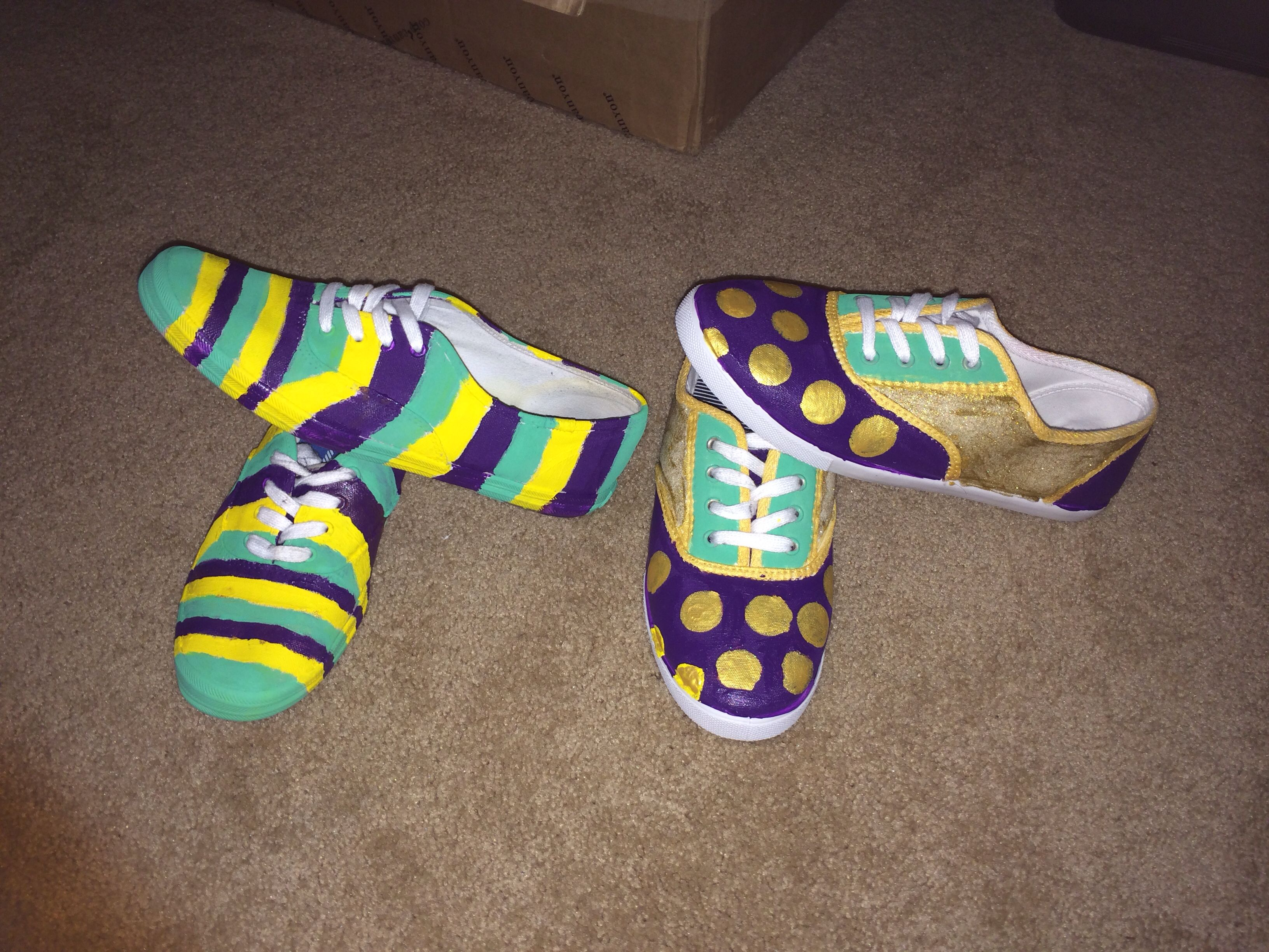 Painted Mardi Gras Shoes I Can Buy The Shoes And Paint Them For You For