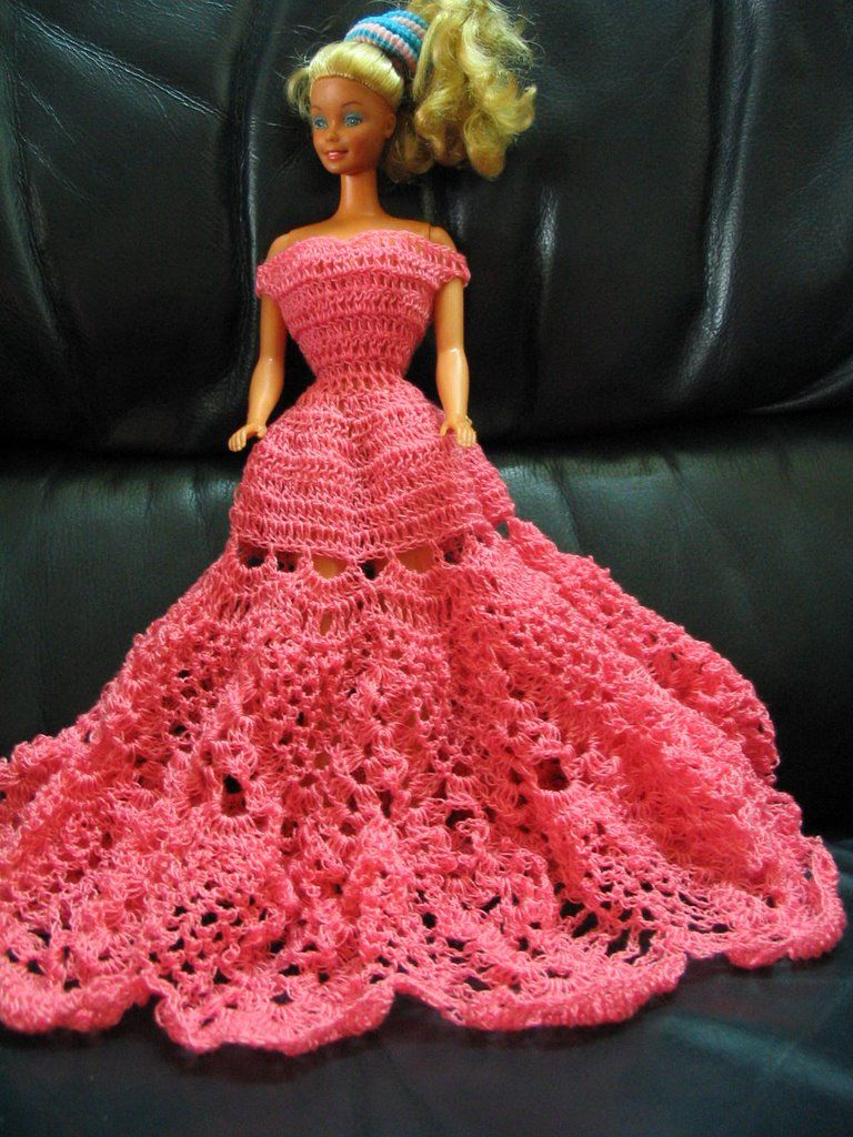 Cyns crochet knitting corner pineapple barbie dress c cyns crochet knitting corner pineapple barbie dress bankloansurffo Image collections