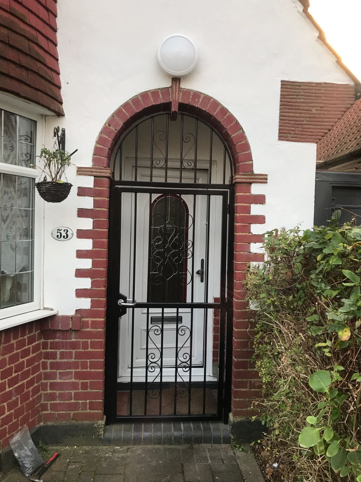 Our RSG3000 Decorative Entrance Gate fitted to the entrance
