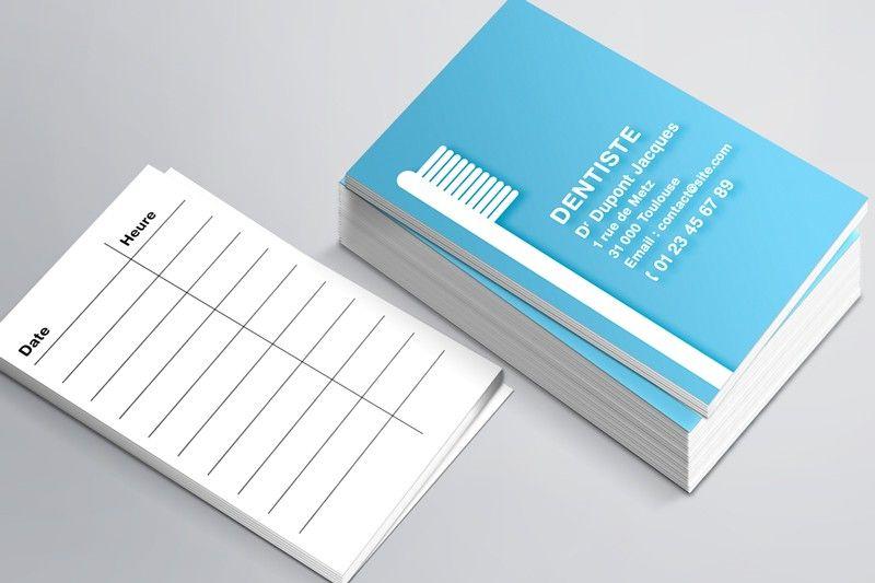 carte de rdv simples n u00b09 pour dentiste