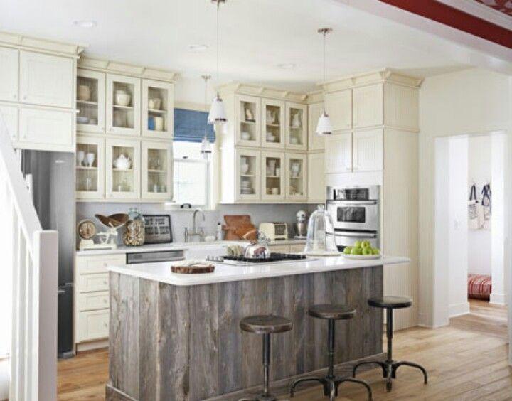 Reclaimed Wood Grey Wash Grey Wash Wood Kitchen Island Kitchen
