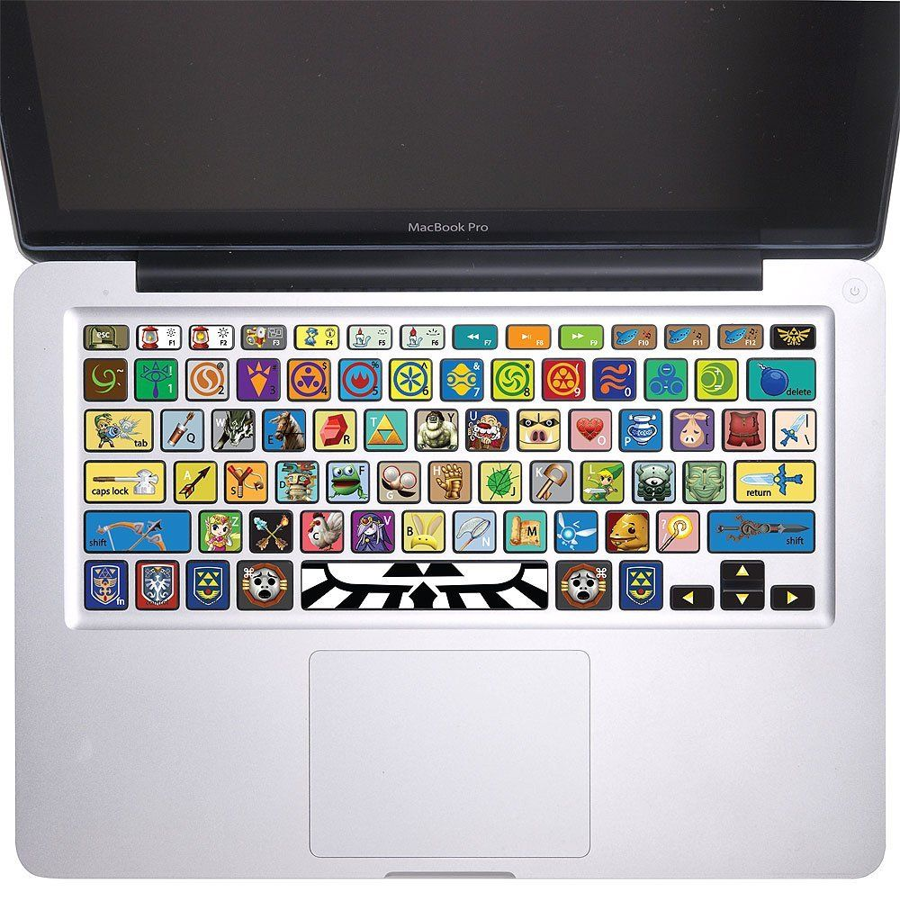 Amazoncom The Legend Of Zelda Keyboard Stickers Vinyl