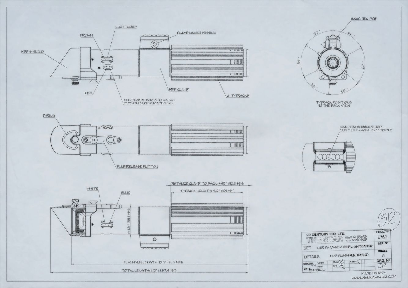 hight resolution of  darth vader esb lightsaber blueprint wannawanga com blueprints on light wiring diagram