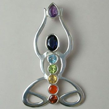 sterling silver and gemstone chakra jewelry  flor de loto