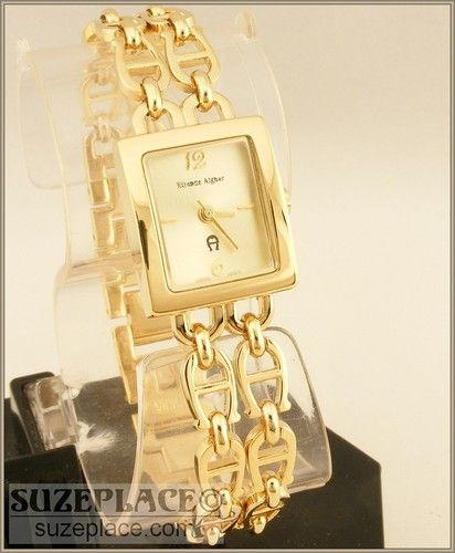 Neuankömmlinge neue Stile das beste New Etienne Aigner Watch Double Horseshoe Bracelet Style ...