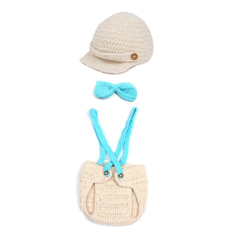 Baby Cute Aninal Owl Shape Velvet Crochet Beanie Photography Hat ...
