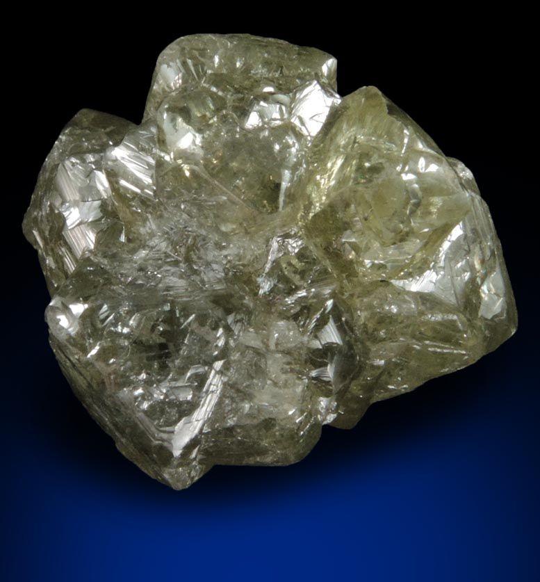 Diamond 28 82 Carat Greenish Gray Crystal Cluster From