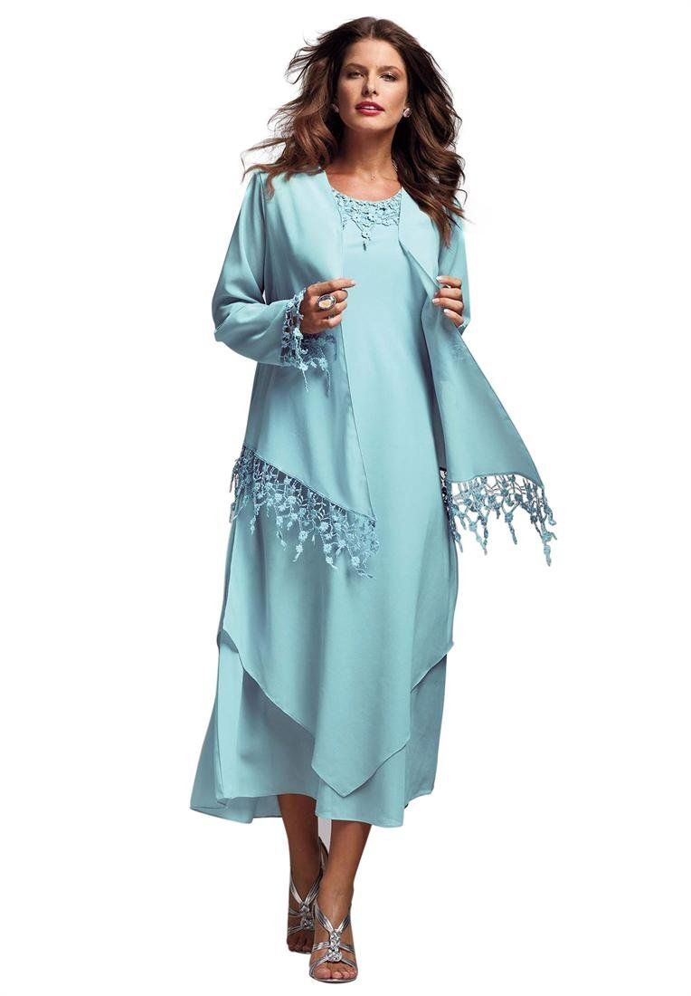 Plus Size Dripping Lace A-Line Jacket #Dress | Fashion for Women ...
