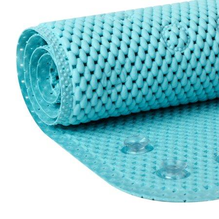 Mainstays 17 in x 36 in Aqua Cushioned Bathtub Mat