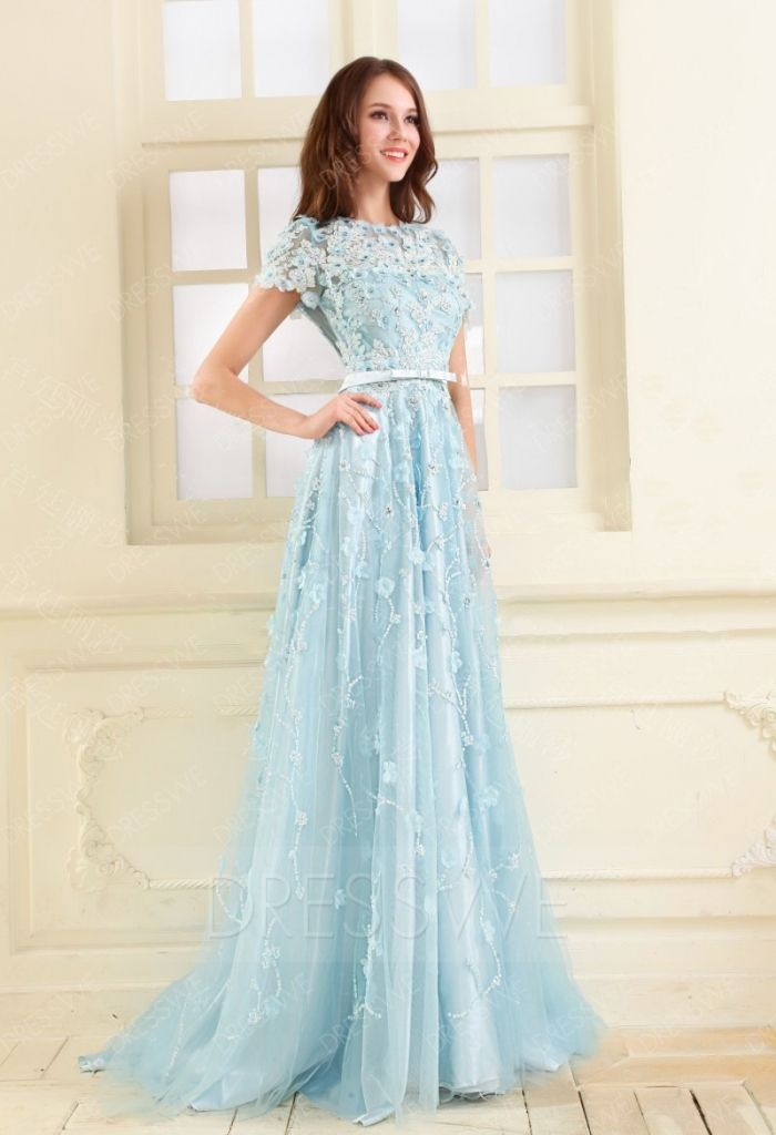 short sleeve prom dresses - hi low prom dresses Check more at http ...