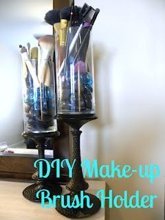 Diy Make Up Brush Holder Mostly Dollar Tree Items Diy Makeup