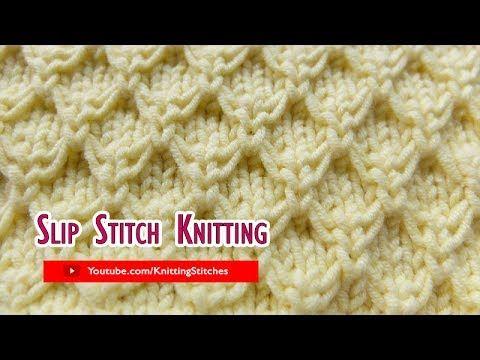 Slip Stitch Knitting #3: Mock Honeycomb - YouTube #slipstitch