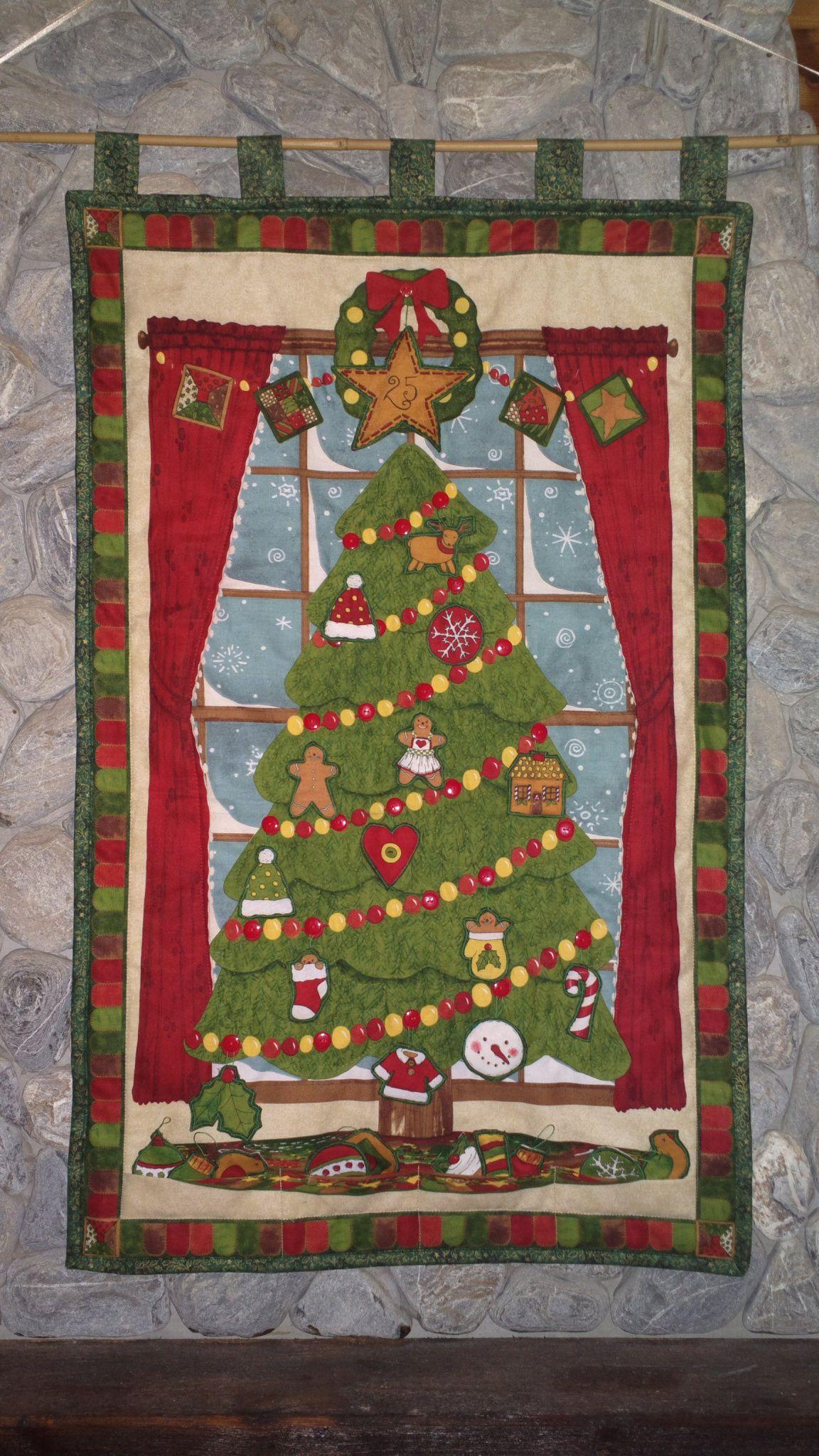 2112 naptár Adventi naptár, gombos fenyő (Amypatchworld   Christmas calendar 2112 naptár