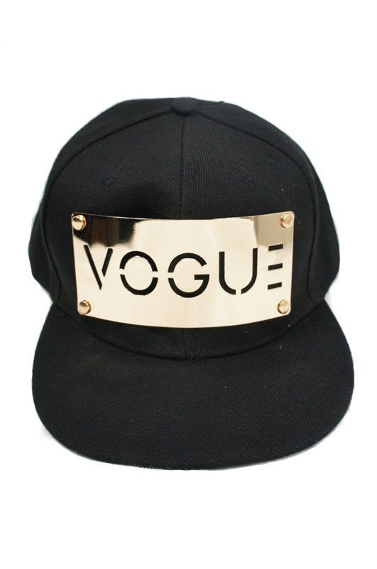 GOLD PLATED VOGUE SNAP BACK HAT - The Fashion Corporation  c6cd123cad2