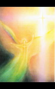 Kunstkarte - Engel des Lichts - Brigitte Junghans - Mellinger Verlag
