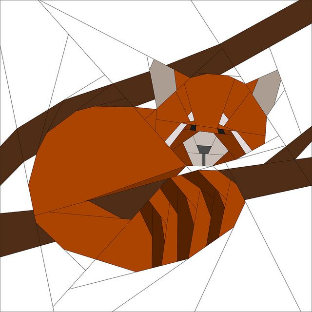 Red Panda Pattern - Forest QAL by badskirt, via Flickr