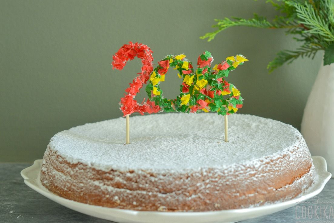Vasilopita, a Greek traditional cake for New Year's Eve!