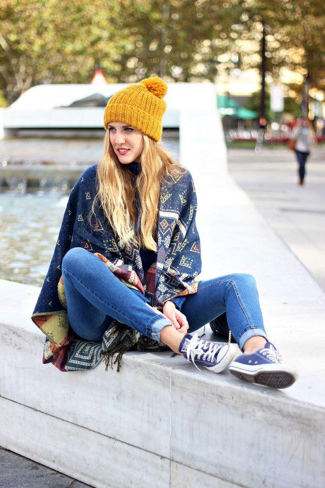 converse azul marino outfit