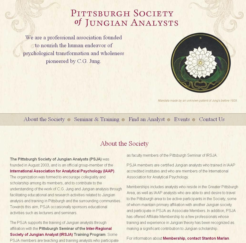 We believe the world is a better place, thanks to C. G. Jung and we're thrilled the website we created for the Pittsburgh Society of Jungian Analysts is now live.