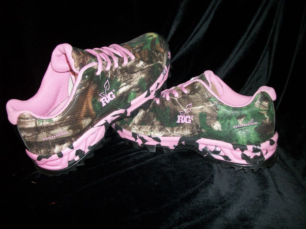 58fc96fb092d Womens Realtree Girl Pink Camo Mamba Xtra Green Camo Tennis Shoes   RealtreeGirl  Tennis