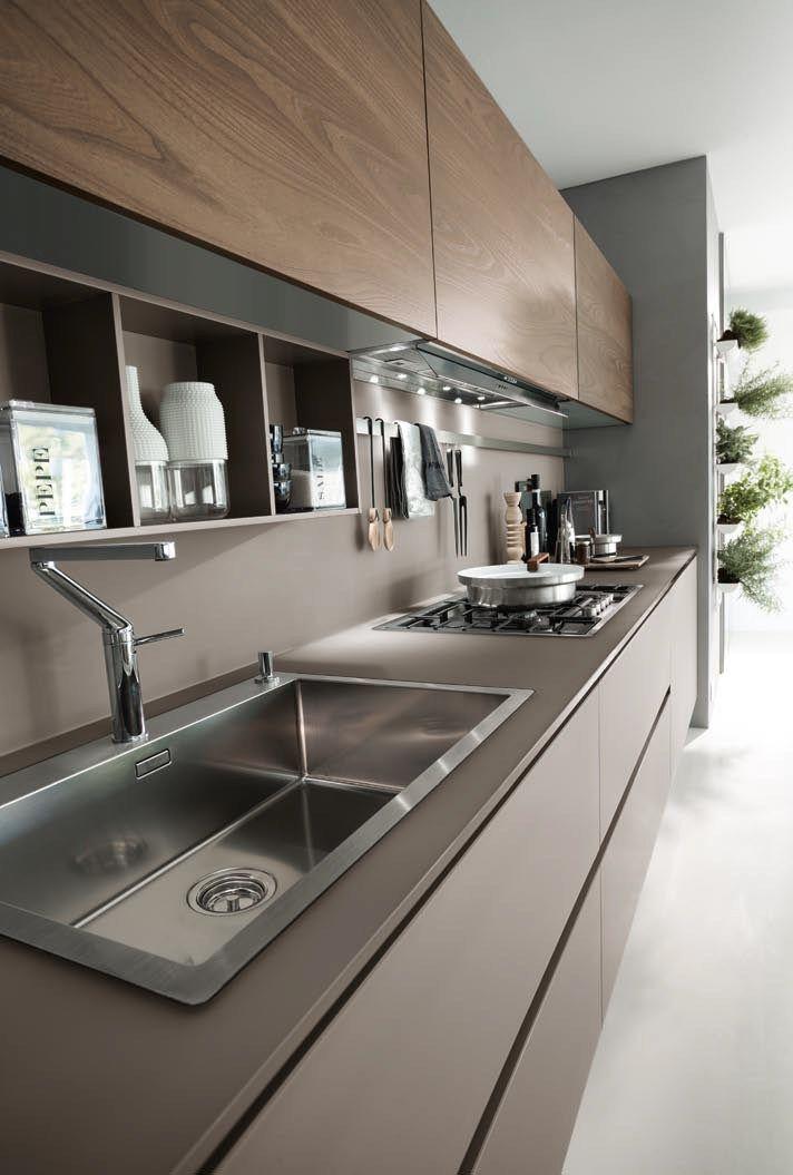 Cozinha lacada linear system composition 06 by pedini for Linear kitchen design
