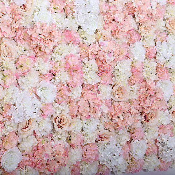 New Arrival Artifical Silk Rose Hydrangea Flower Walls Etsy Flower Wall Wedding Silk Roses Flower Wall