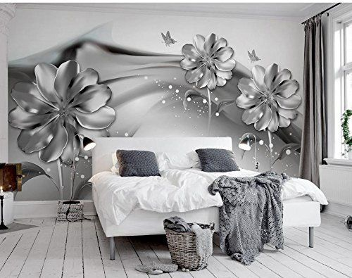 malilove fototapete f r w nde 3d wandbilder tapeten f r wohnzimmer schwarze und wei e blume 3d. Black Bedroom Furniture Sets. Home Design Ideas