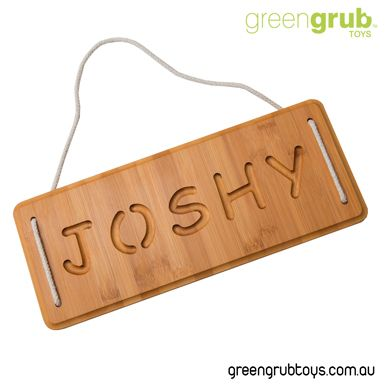 Greengrub Toys Premium Personalised Kids Door Name Signs Dark 2cm Thick From 42 Name Signs Wooden Doors Name Plaques